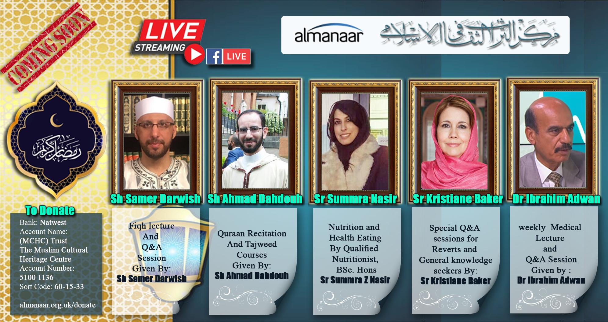 Ramadan 2020 Programme – Live Streaming