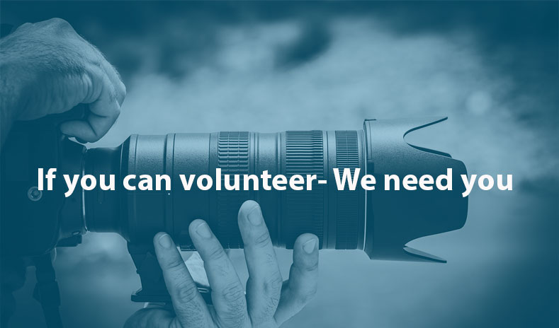 Volunteer with us: Photographer/Videographer