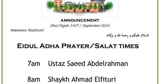 Eid Adha 2016