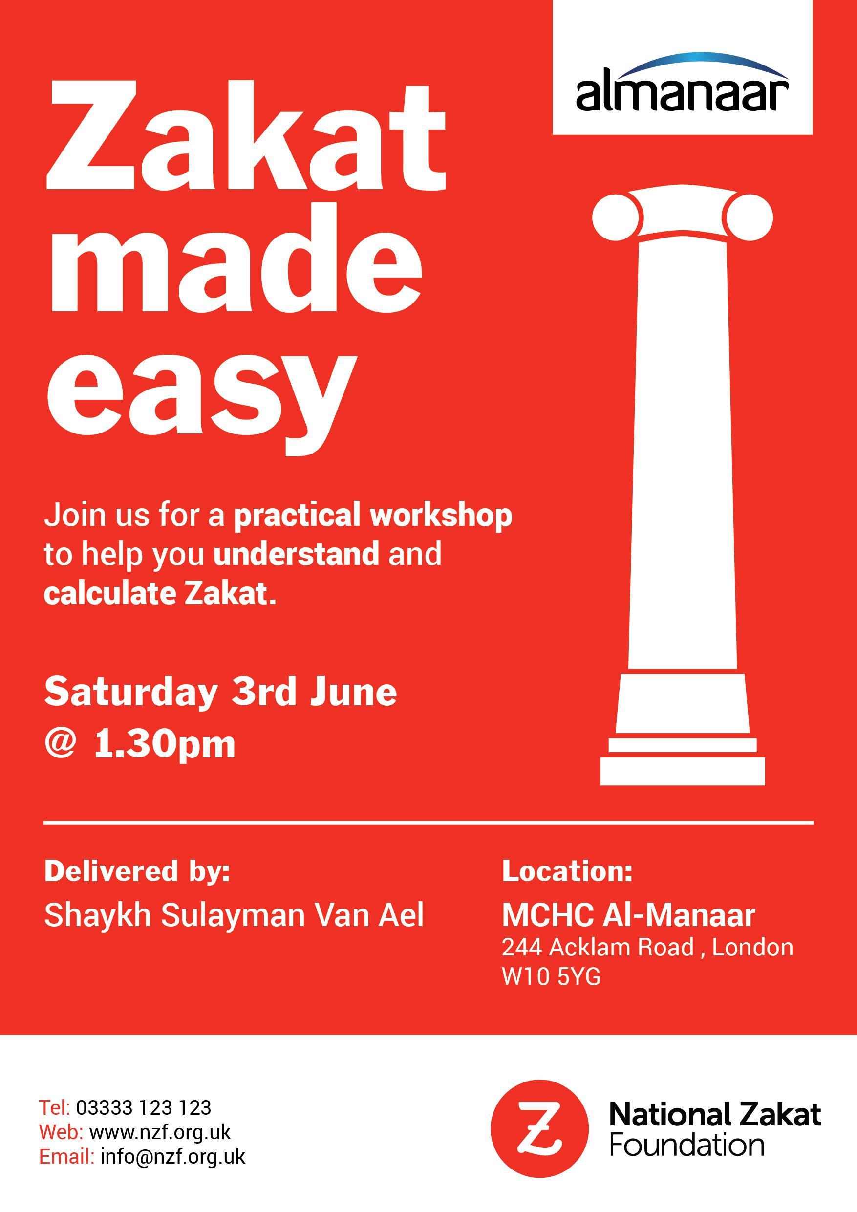 NZF Zakat Workshop for MCHC Al-Manar Sat 3rd June 2017